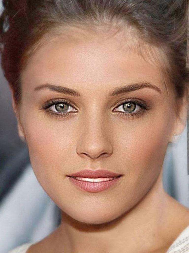 belle femme du monde sans maquillage