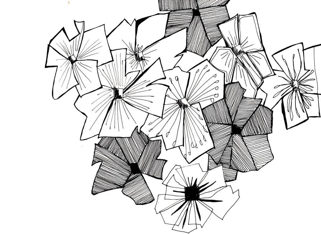 fleurs graphique
