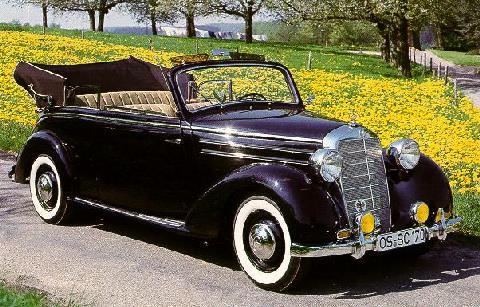 mercedes 170s cabriolet b 1951