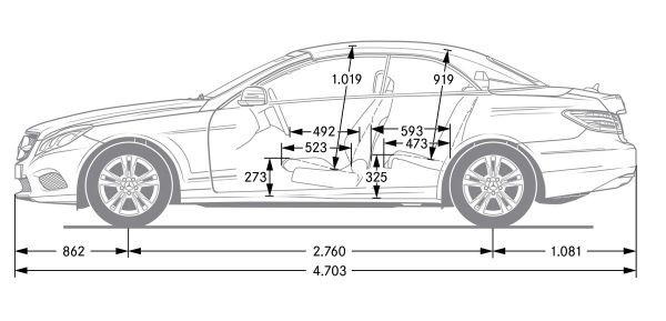 mercedes e cabriolet dimensions