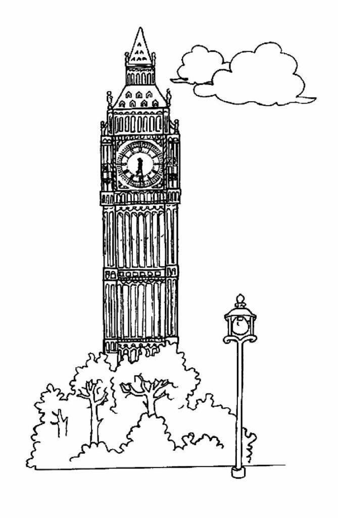 monument anglais dessin