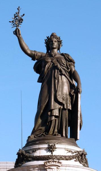 statue bronze france