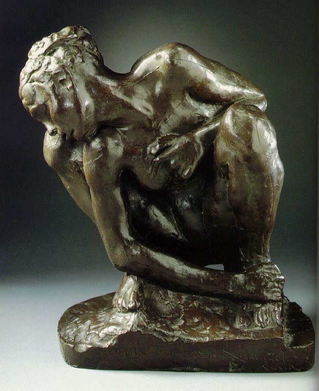 auguste rodin crouching woman
