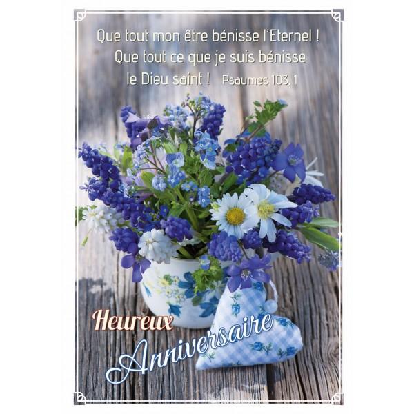 fleurs bleues bouquet