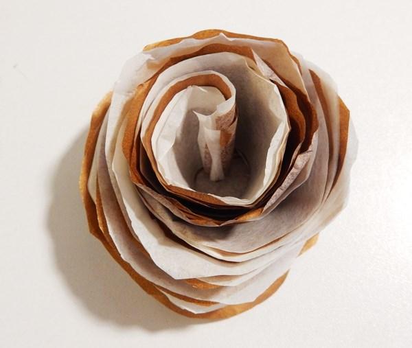 fleur papier soie