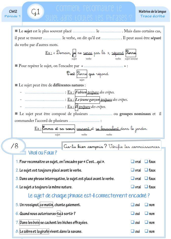 leçon anglais cm2