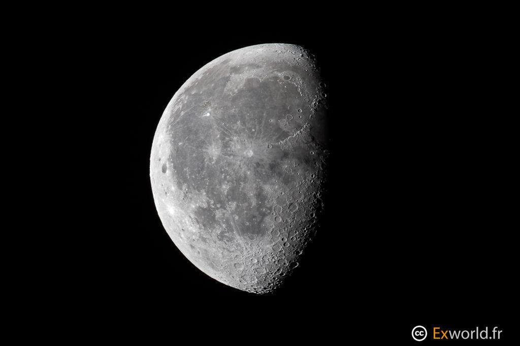 lune décroissante et descendante
